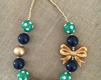 Michigan State or NOTRE DAME Fighting Irish Bubble Gum Necklace