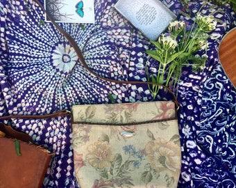 Vintage Floral Crossbody purse
