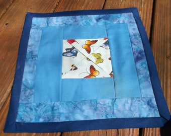 Blue Butterfly Candle Cradle