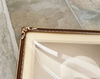 Vintage Bubble Glass Picture Frame, 9x7 Picture Frame, Antique Bubble Glass Picture Frame, Antique Convex Bubble Glass Frame, Picture Frame