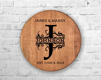 Custom Hand Painted Bourbon Barrel Head