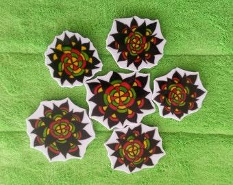 Mosaic Tiles ONEOF A KIND Flower Design Mosaic Tile