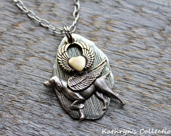 Weimaraner Angel Necklace, Weimaraner Necklace, Weimaraner Memorial, Pet Memorial Jewelry, Weimaraner Gift