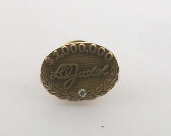Vintage 10K Diamond Pin 2.9 Grams