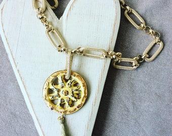 Sicilian wheel Necklace