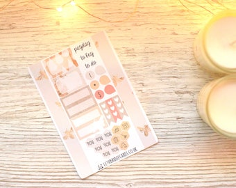 Peachy Bees Pocket Planner Kit; Weekly Kit; TN Kit; Planner Stickers; Bullet Journal; Filofax; Mini Kit; Bee Stickers; Spring Weekly Kit