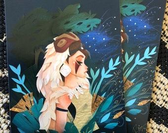 Princess Mononoke (5x7) print
