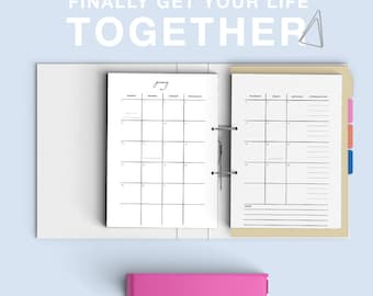 Get Your Life Together Goal Planner A5 Printable