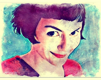 Amelie Poulain Watercolor Painting Art Print