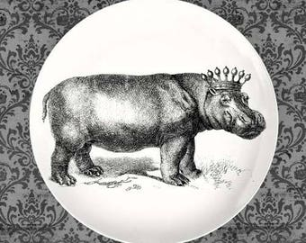 Crowned Hippo plate