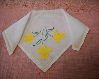 Vintage Appliqued Handkerchief