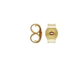 14k Gold Filled Promotional Earring Back 2.5x4.0mm (GP-4005060)