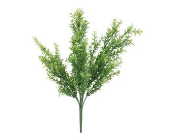 Artificial Wild Green Herb Foliage Sprigs
