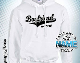Boyfriend Established, Boyfriend Gift, Boyfriend Birthday, Boyfriend Hoody, Boyfriend Gift Idea, Baby Shower, Christmas gift