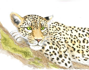 Watercolour Leopard Print