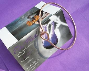 Pure Copper heart Bangle, Arthritis Bracelet, Copper bracelet, adjustable copper bangle, tendonitis Bangle, Open Copper Bangle,boho bracelet