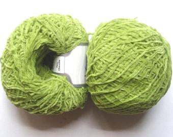 4 green skeins velvet Chenille 46840