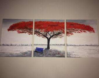 One painting in 3 canvases- any painting can be requested