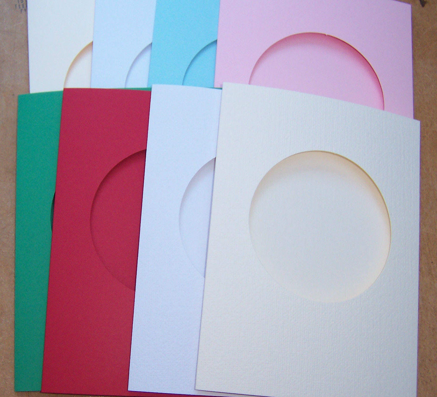 Card blanks 5 round aperture cards greeting cards blanks zoom m4hsunfo