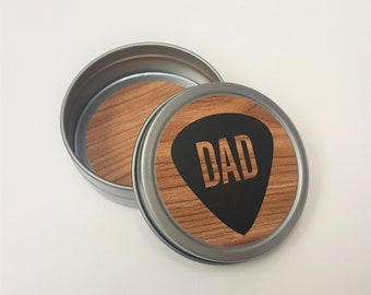 Dad Guitar Pick Tin, guitar pick holder, small gift for men, under 10 dollars, pick holder, fathers day guitar pick tin gift, free shipping