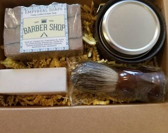 Mens Gift Set, Shaving Soap Set, Pampering for Men, Soap Gidt box