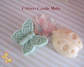 Scented Wax Melts~ Cute Ladybug and Butterfly Sliceable Shape- Scented Soy Candle Melts- Wax Melts Warmer -4oz