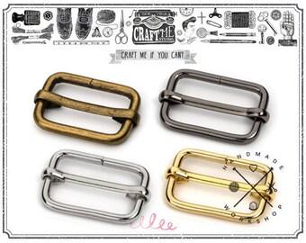 """10pcs 5/8"""" 3/4"""" 1"""" Movable Bar Slide Strap Adjuster Rectangle Strap Keeper Triglide Belt Keeper Purse Making"""