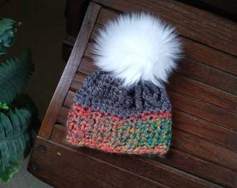 The Cheshire Beanie. Warm, cozy, soft, handmade crochet hat