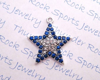 plated sterling yellow or pendant gold silver amazon blue star necklace sapphire com dp diamond