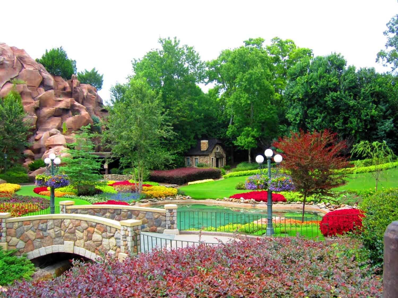 8X10 Photo Butchart Gardens Disney World Epcot Garden