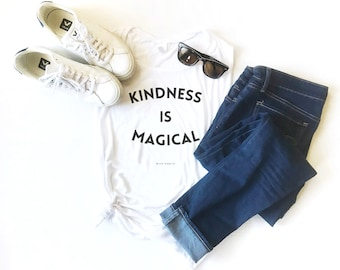 Kindness is Magical Muscle Tank, Female Tank, Workout Top, Graphic Muscle Tee, Fitness Tank, Hot Yoga, Kindness Tee, Magical, Vintage Feel