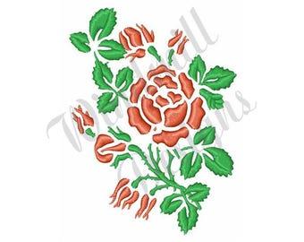 Rose Buds - Machine Embroidery Design