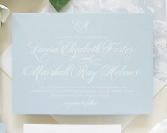 Letterpress Wedding Invitations and Photo Save by BanterandCharm