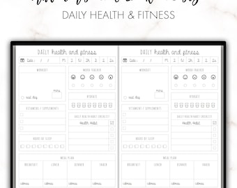 Traveler's Notebook A6 Daily Health and Fitness Insert Printable