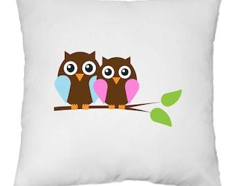 Cover cushion 40 x 40 cm - OWL owls owls - Yonacrea