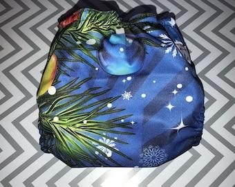 Christmas Tree Cloth Diaper Cover