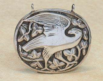 Vintage Pendant - Large Vintage Sterling Silver Eagle Pendant