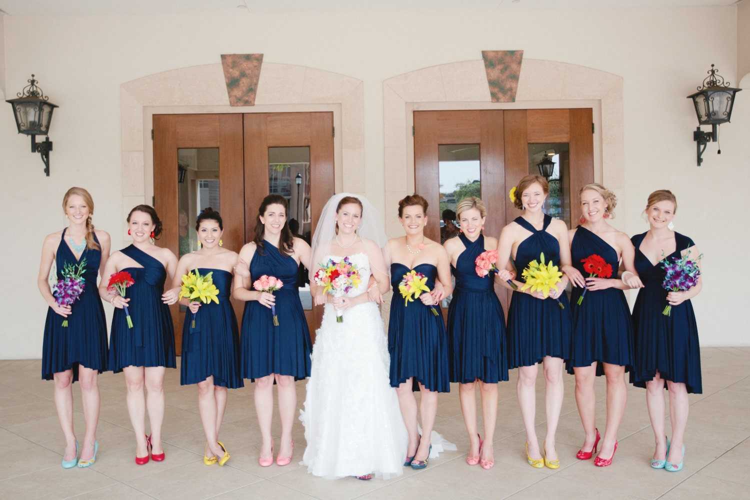Navy bridesmaid dresses images
