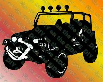 SVG Cut File Wrangler Jeep TJ Download Crawling