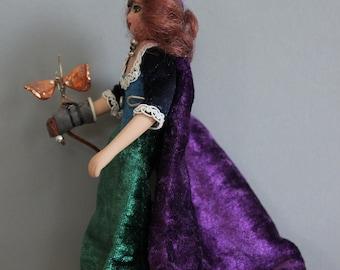 Steampunk Dollshouse Miniature Figure: Madame Ava Brassfeather