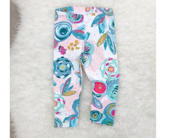 Baby Leggings, Toddler Leggings, Baby Leggings Girl, Baby Leggings and Hat, Baby Harem Pants, Baby Harems, Toddler Harem Pants Baby Headband