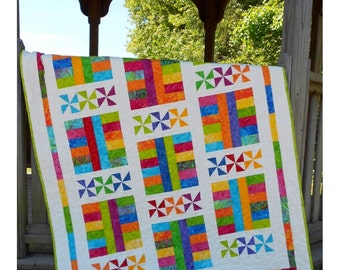 Baby Quilt Pattern - Layer Cake Pattern - Saturday In The Park -  Hard Copy Version - FREE SHIPPING!!