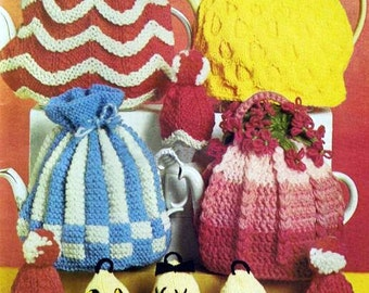 Knitted Tea and Egg Cosies - Digital Knitting Pattern
