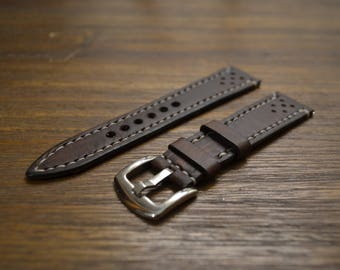 Handmade Leather Watch Strap (kangaroo / cow leather) / Vegetable Tanned / Australian Made
