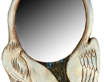 Heron Bird Wall Mirror