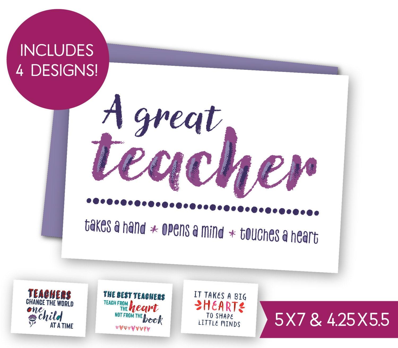 Thank You Teacher Quotes School Teacher Quotes Printable Card Bundle Teacher