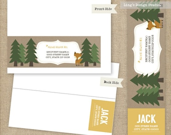 Woodland Wrap Around Address Labels |  Printable