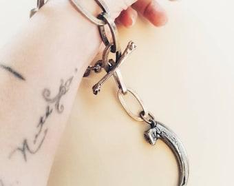Chunky Eagle Claw Bracelet