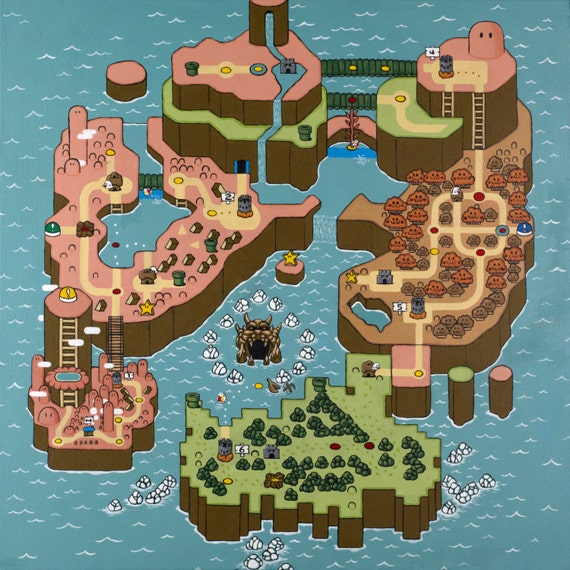Autumn super mario world map print gumiabroncs Image collections