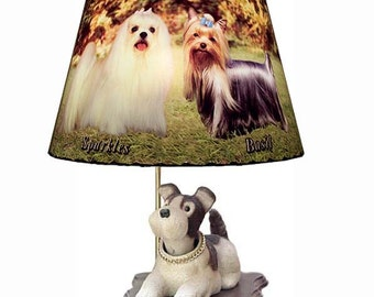 Bobbing Head Nodder Dog Lamp and Shade Perfect Gift Idea for Dog and Pet Lovers of any breed